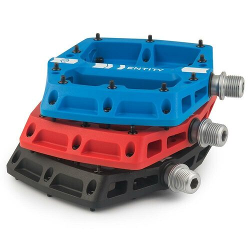 Entity PP20 Composite Flat Pedals - Red